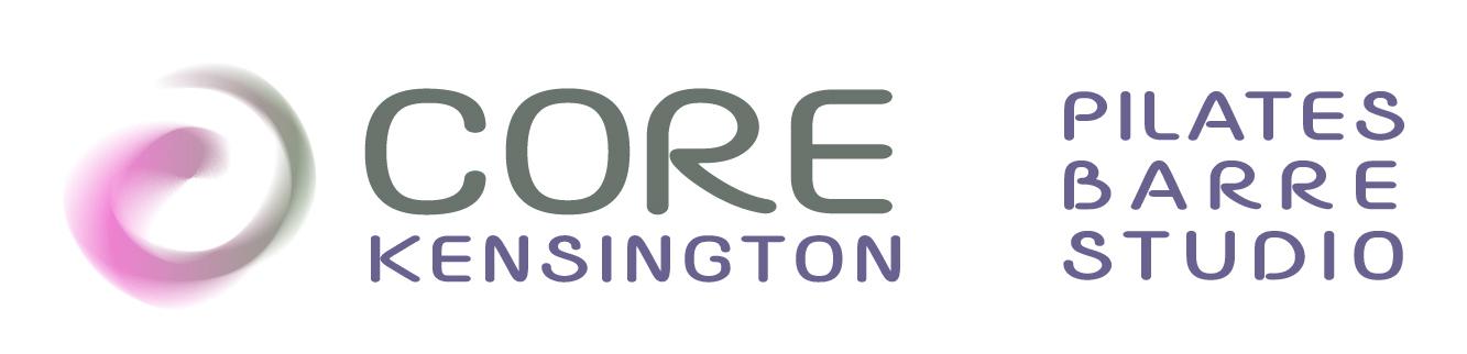 CORE KENSINGTON - Pillates & Barre Studio. Logo and website design.